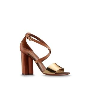 Louis Vuitton Odyssey Sandals with Heel- on SALE!!
